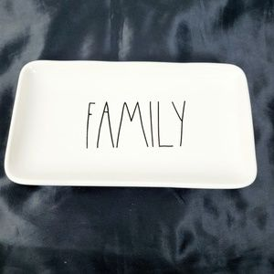 RAE DUNN Magenta Collector White Family Tray